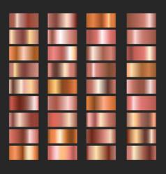 pink copper gradients vector image