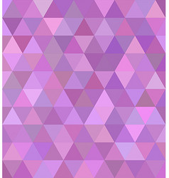 Pink triangle tile mosaic background design vector image