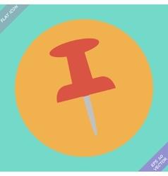 Push pin icon - Flat design vector image