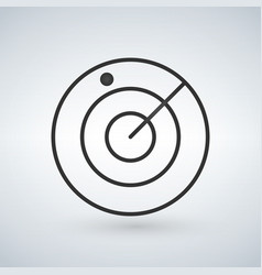 Radar screen airport icon isolated vector