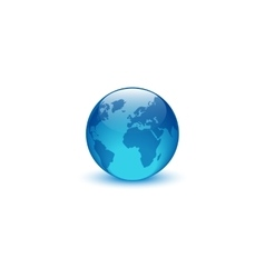 Realistic glass globe logo creative idea eco vector image