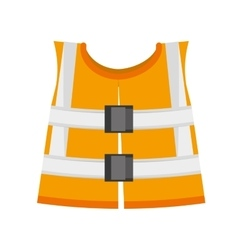 Reflective vest safety work vector