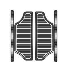 Retro old west saloon doors black icon logo vector