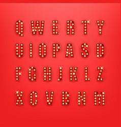 retro style alphabet clipart vector image