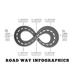 Road way design infographics vector image