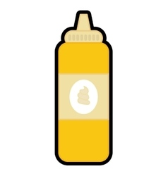 Sauce bottle icon Fast food design vector