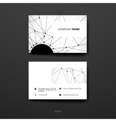 Set of modern design banner template in Molecular vector