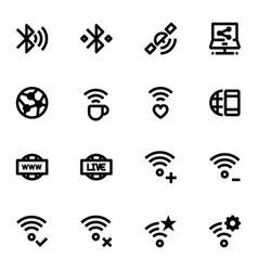 Set of network icons vector