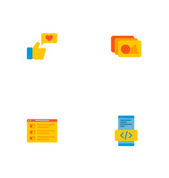 set of wd icons flat style symbols with photo vector image