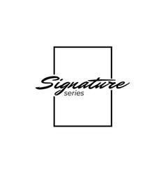 Simple signature logo design template vector
