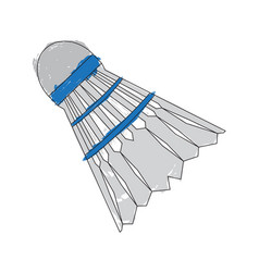 Sketch of a badminton shuttlecock vector