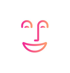 smile face symbol happy people abstract line icon vector image