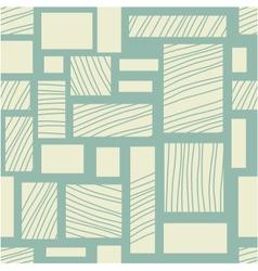 Square retro background vector image