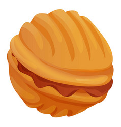 Sweet nut bakery icon cartoon style vector