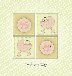 Sweet Welcome the New Baby Card vector image