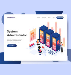 System administrator isometric concept vector