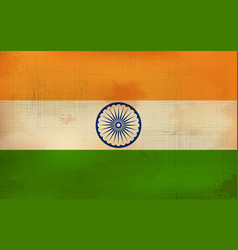 Tricolor indian flag background for republic vector