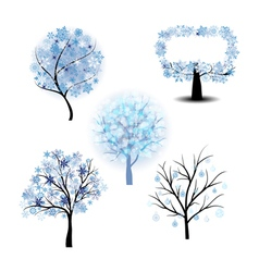 Wiinter Tree Set vector image