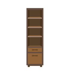 Wooden dark closet vector