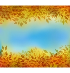 Autumn background with branches and leaves vector image vector image