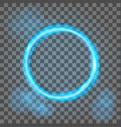 magic blue circle flare special effect vector image