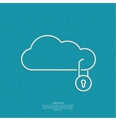 Secure cloud service vector image