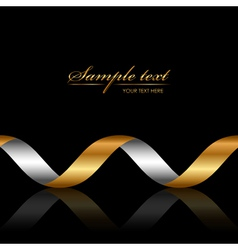 background with gold ribbon vector image vector image