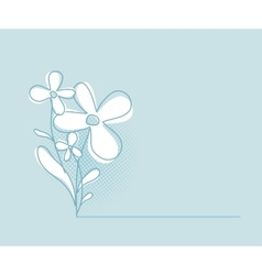 Flower Background Simple and Clean Herbal vector image