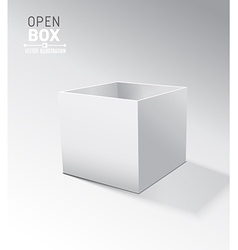 Grey open box with realistic shadows on grey vector image