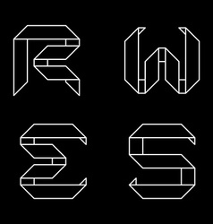 Logo templates of letters Letters RWES Monochrome vector image