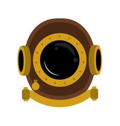 antique diving helmet vector image