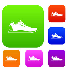 athletic shoe set collection vector image vector image