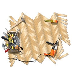 Housing Repair Frame with Toolbox vector image vector image