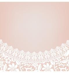 lace bridal dress vector image vector image