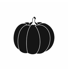Pumpkin icon in simple style vector image