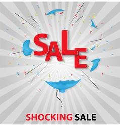 Shocked sale concept backgr vector image vector image