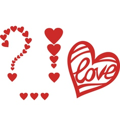 Signs of love heart valentines day design element vector image vector image