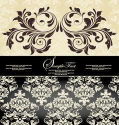 vintage damask invitation card vector image vector image