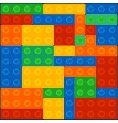 Construction block square vector image