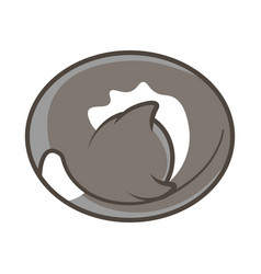cute cat lying and sleeping vector image vector image