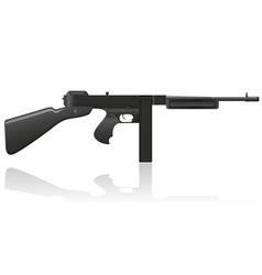gangster gun Thompson 02 vector image vector image