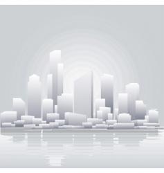 grey city vector image vector image