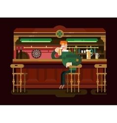 Shop pub beer vector