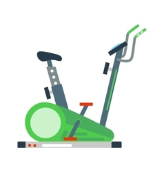 Stationary exercise bike sport gym machine health vector