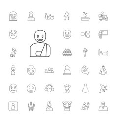 33 person icons vector