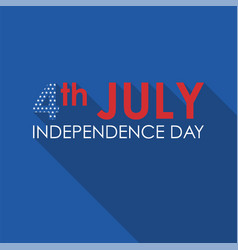 4th of july concept flat banner usa independence vector image