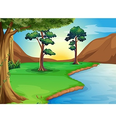 A river at the forest vector image