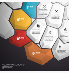 abstract geometric layout for presentation vector image