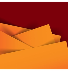 Abstract orange and dark red background overlap vector