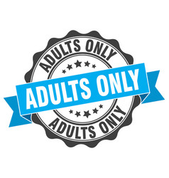Adults only stamp sign seal vector